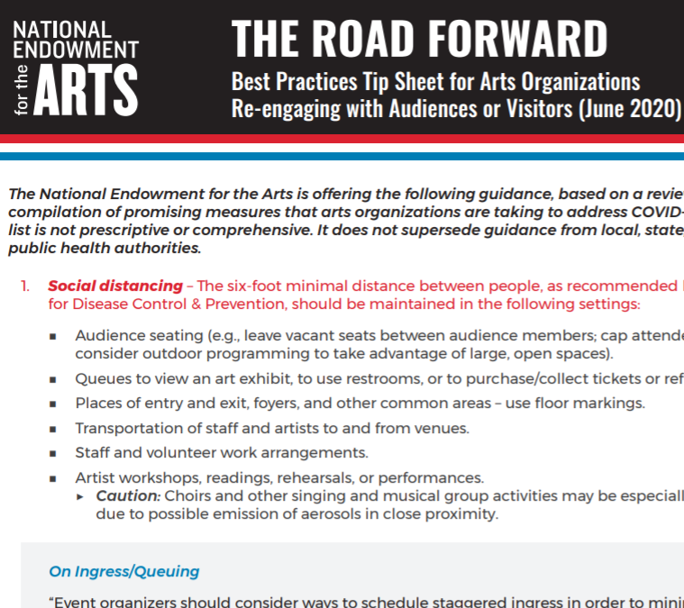 The Road Forward – NEA COVID-19 Best Practices