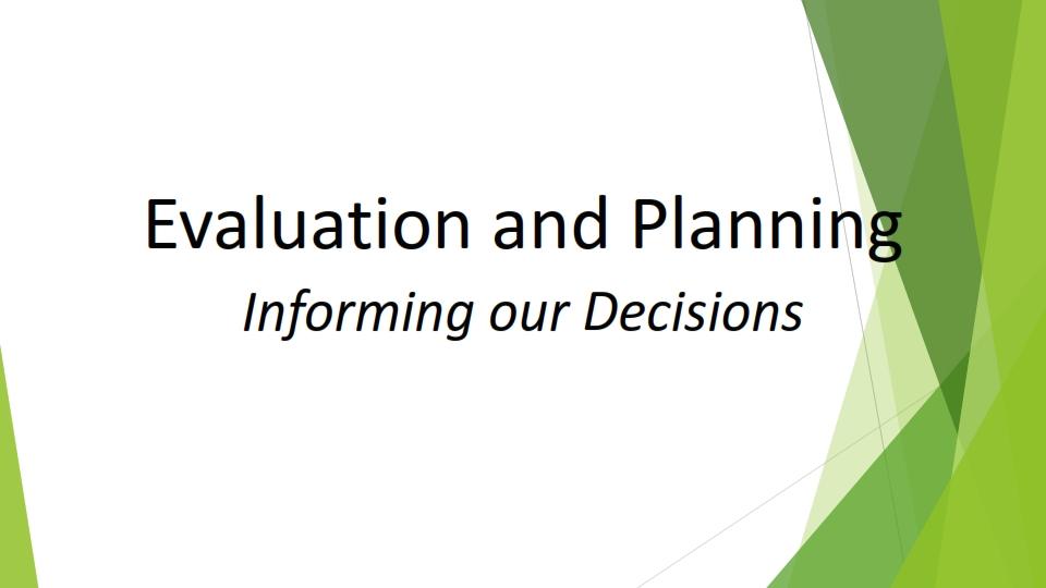 Summit 2021: Evaluation & Planning